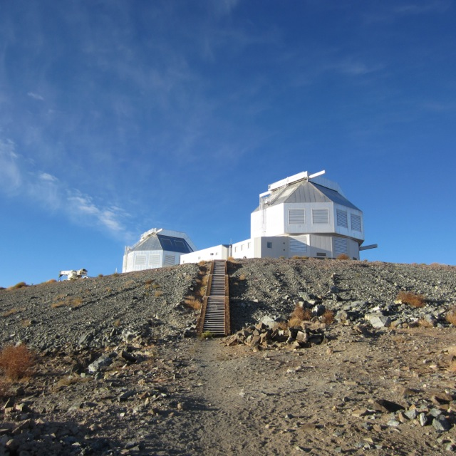 The Magellan telescopes in Chile.